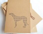 Little Notebooks Kraft Greyhound - Set of 2 Dog Pocket Notebooks