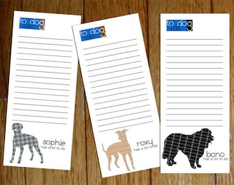 Personalized Dog Notepad -- To Dog List Custom Breed Single Notepad