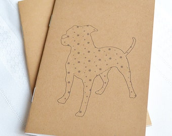 Little Notebooks Kraft American Bulldog - Set of 2 Pocket Notebooks