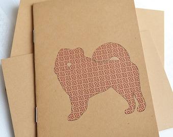 Little Notebooks Kraft Chow - Set of 2 Dog Pocket Notebooks