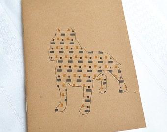 Little Notebooks Kraft Pitbull - Set of 2 Dog Pocket Notebooks