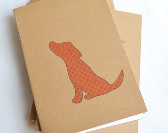 Little Notebooks Kraft Red Dog - Set of 2 Dog Pocket Notebooks