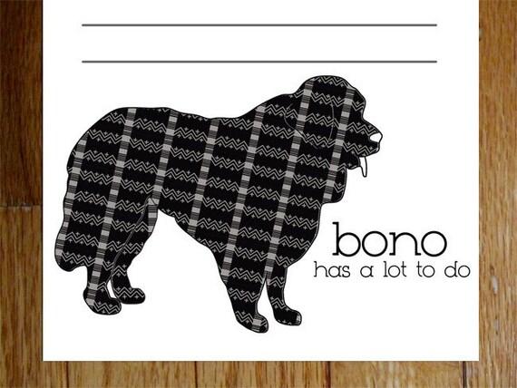 Newfoundland Personalized Notepads -- To Dog List Custom Breed