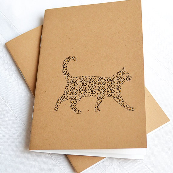 Little Notebooks Kraft Leopard Cat - Set of 2 Pocket Notebooks