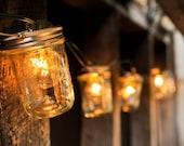 ON SALE Mason Jar Light Strand - Half Pint Jars