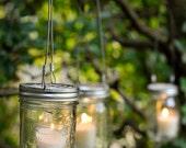 Make Your Own Mason Jar 3 in 1 Candle Holder/ Flower Holder/ Planter Set of 5 - Wedding decor