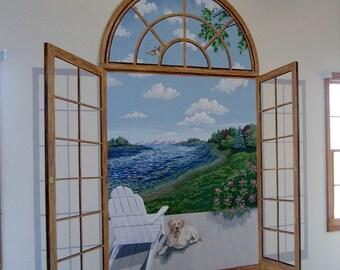 French Door Mural