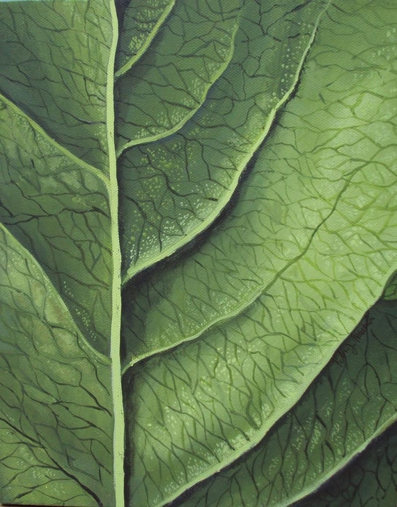 A Classical Leaf, Abstract Painting, Macro Painting, Original Art