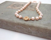 Vintage Champagne Pearl Necklace