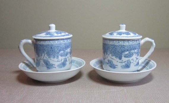 Set of Teacups With Lids
