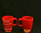 Keep Calm and Drink More Tea Mugs / Ceramic Tableware / Contemporary Functional Ceramics for Your Home