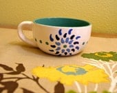 Fiesta Flower Mug in Blue