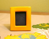 Bright Yellow Mini Picture Frame / At Home Decor / Contemporary Functional Ceramics for Your Home
