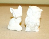 Custom Fox and Owl Cake Toppers / Reserved for sassykas71 / For Your Wedding / Contemporary Functional Ceramics for Your Home