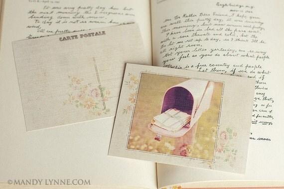 Nostalgia Pink Postcards - gift set of 6