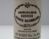 COTTAGE CHIC  Vintage -- James Keiller Scottish Marmalade Ceramic Pot // Vase