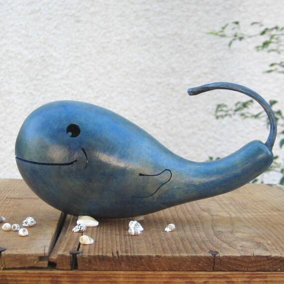 Whale Gourd Beach House Ocean Blue Natural Decoration