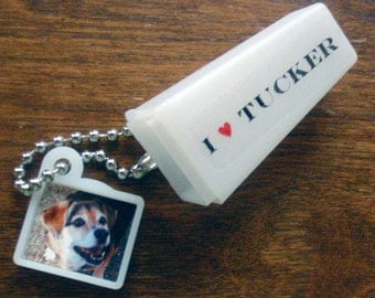 Pet Keepsake. Personalized Photo & Words. Keychain Viewfinder