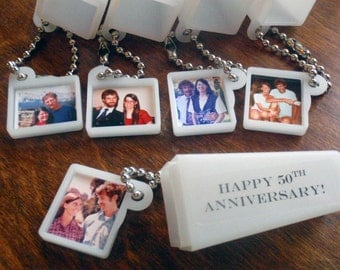 Anniversary Gift or Party Favors. YOUR PHOTOS & WORDS. Set of 5.
