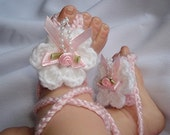 Boutique Barefoot Baby Sandals