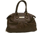 Chocolate Brown Lambskin Shoulder and Satchel Bag - RESERVED