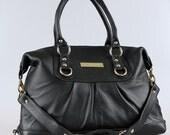 Black Lambskin Shoulder and satchel bag