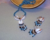 Necklace and Earrings Native American Bead and Shell