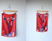 1960s scarf / 60s Vera scarf  / Vera Neumann silk scarf / Blowout Comb Print scarf