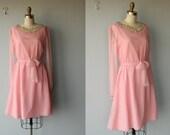 1960s dress / 60s dress / pink chiffon party dress / Wings of Desire dress - size small , medium