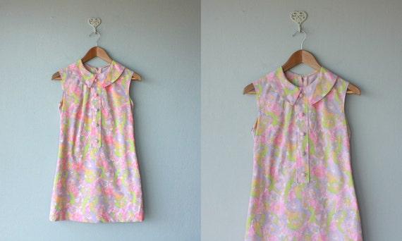 1960s dress / 60s dress / Brushstroke Pastel dress - size small