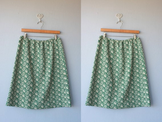 1960s skirt / 60s skirt /  A New Leaf skirt - size large , XL