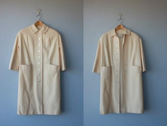 1950s coat / spring coat / Going My Way coat - size large