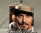 Hot SEXY Actor JOHNNY DEPP Photo Scrabble Tile Pendant Charm Jewelry from JewelsbyJMarie