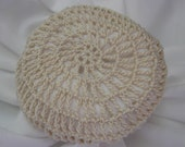 Hair Net / Bun Cover Natural Crocheted Traditional Net Amish Mennonite