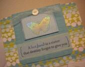 Best Friend Butterfly Handmade Card