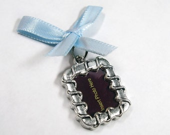 Wedding Day Memorial Photo Charm - Anna - Includes Printing Service