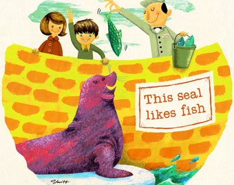 This Seal Likes Fish - Limited Edition Print