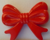 4pcs HUGE Red Bow Beads - 47x38mm
