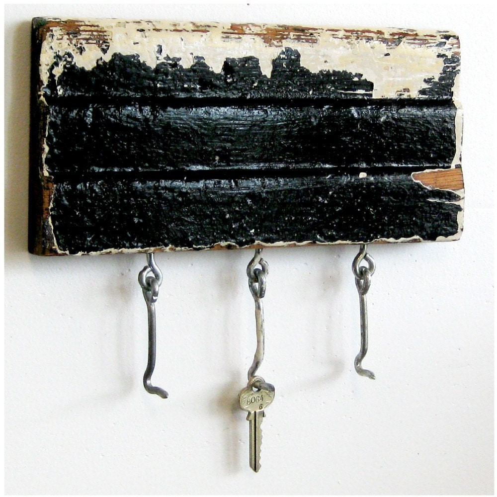 Key Rack Repurposed Decorative Wood Molding By Halfpintsalvage