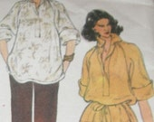Vintage Sewing Pattern from 1980s Vogue French Boutique No. 1902 Renata Loose-fit Top