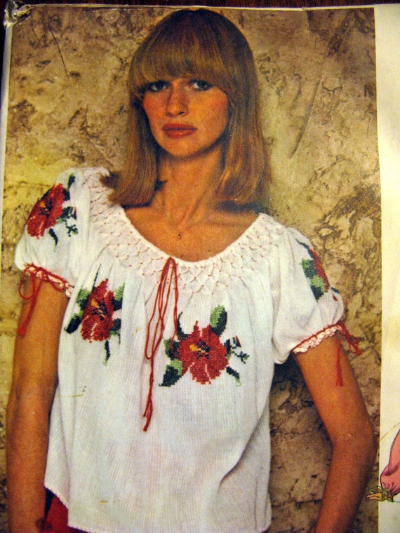 Vogue Peasant Blouse Pattern 82