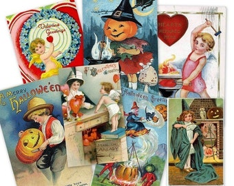 CD 3700 Vintage Victorian HOLIDAY CLIPART Images Easter Halloween Thanksgiving  Valentines St Patrick's Birthdays scrapbook Images