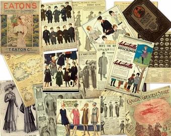 Vintage Departmental Store EATON's Mail Order CATALOG Ephemera on DVD .pdf Hi Res Fashion Women Children