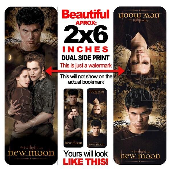 Twilight new moon edward jacob bella bookmark vampire movie for New moon vampire movie