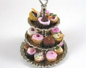 Dollhouse Miniature Cupcake Stand in 12th Scale