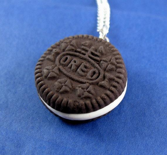 Miniature Food Jewelry Oreo Cookie Necklace