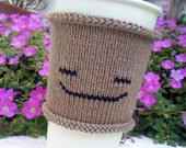 Coffee Cozy - Coffee Cup Cozy - Travel Mug Coffee Tea Cozy - Chilled Out Emoticon - Keep Calm