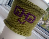 Cute Nerd Coffee Cozy Cup Cozy - Geek Chic Coffee To Go Cozy