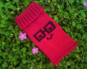 Cell Phone Case - Phone Cozy - Phone Sock - Gadget Case for iPods - nerd glasses geekery geek chic