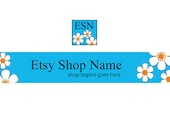 Banner and Avatar Set  - Floral 60 - Etsy Banners - 2 Piece Set